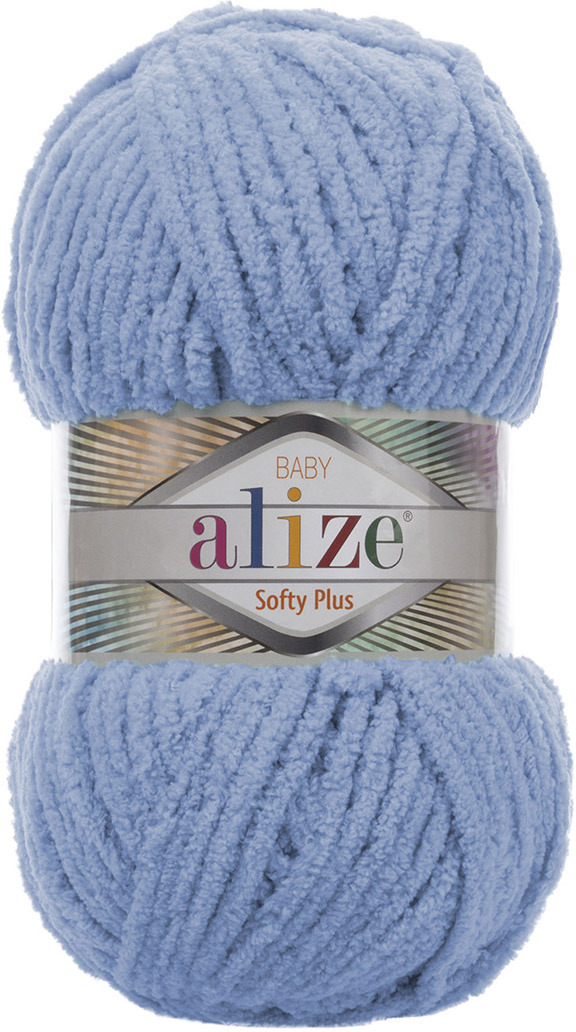 Пряжа Alize Softy Plus, 7725813, 112 голубой, 100 г, 120 м, 5 шт 5 newstar 100