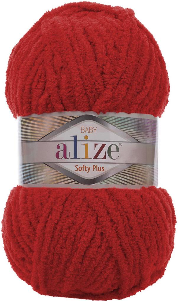 Пряжа Alize Softy Plus, 7725813, 56 красный, 100 г, 120 м, 5 шт 5 newstar 100