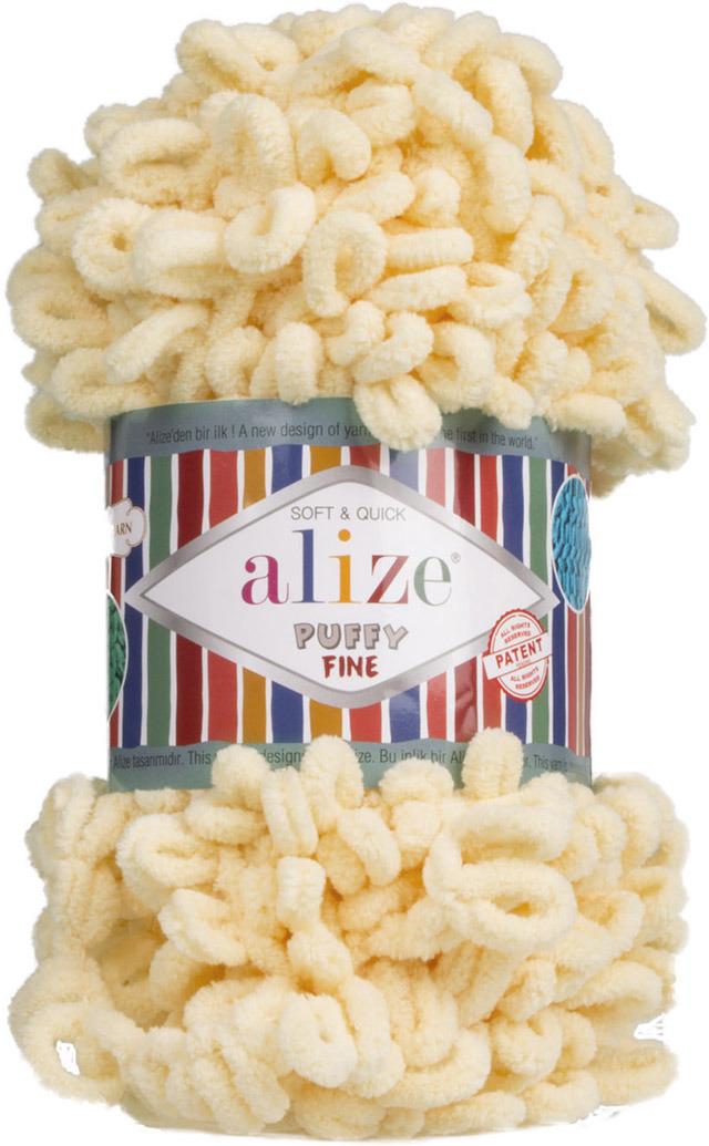 Пряжа Alize Puffy Fine, 7725814, 160 каменный, 100 г, 14 м, 5 шт
