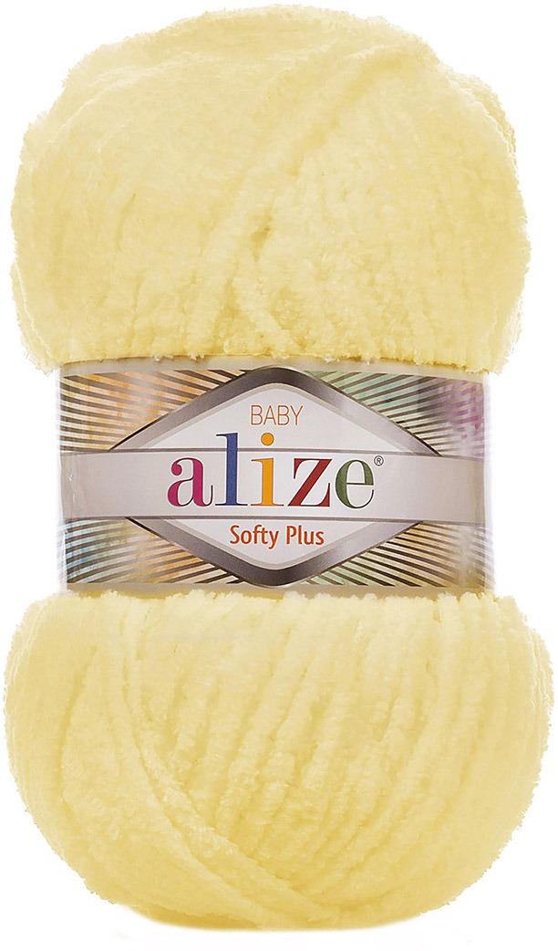 Пряжа Alize Softy Plus, 7725813, 13 желтый, 100 г, 120 м, 5 шт 5 newstar 100