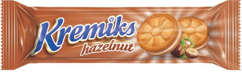 Печенье Hamle Кремикс с кремом со вкусом лесного ореха, 60 г selga печенье со вкусом сгущенного молока 180 г