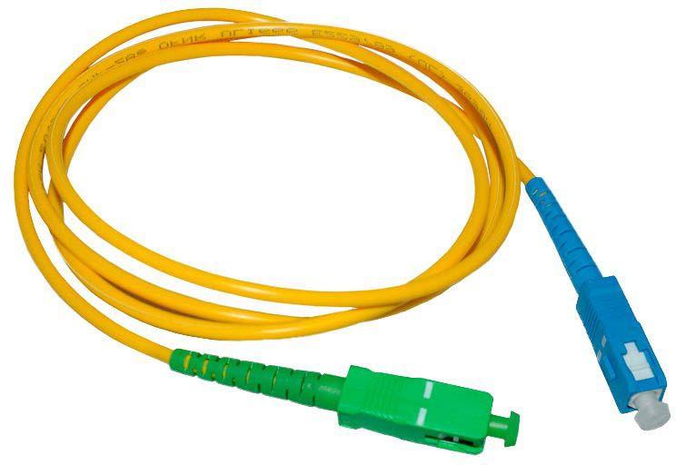 Шнур оптический соединительный SC-SC/APC, SM 9/125, simplex, 3 м