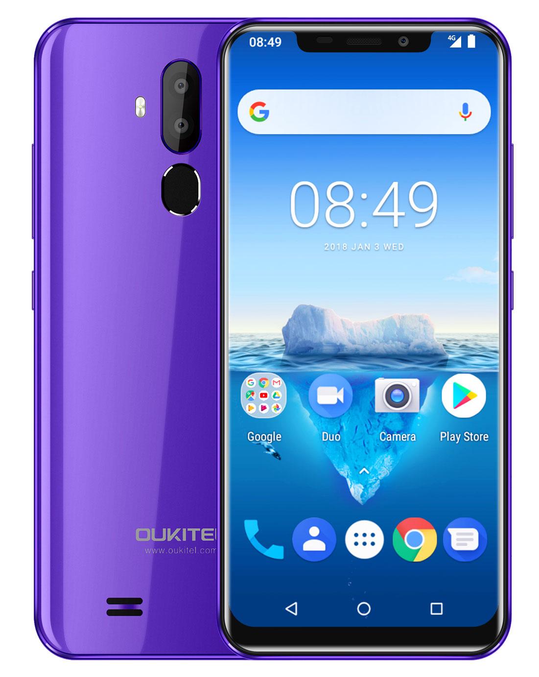 Смартфон OUKITEL C12 Pro 2/16 Гб, сиреневый