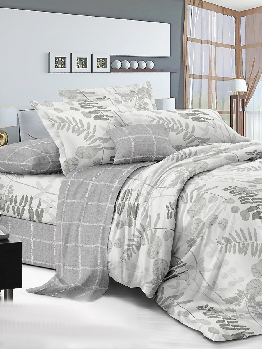 Комплект постельного белья ИМАТЕКС IM0400-2-70х70, светло-серый постельное белье cotton life love you 70х70 см 1 5 спальное