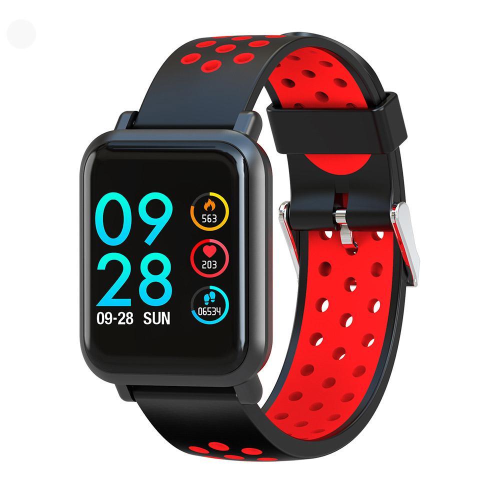 Умные часы Colmi S9 Plus, смарт-часы, красный, черный