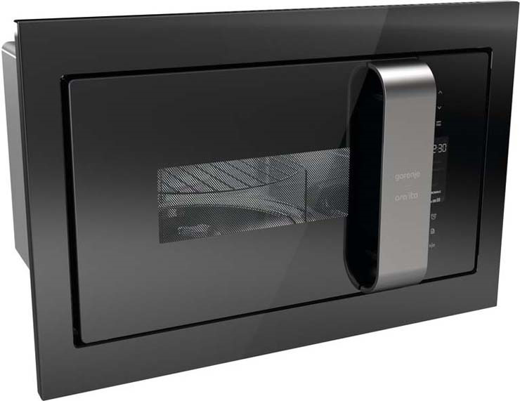 Встраиваемая микроволновая печь Gorenje BM235ORAB90000009828Встраиваемая микроволновая печь с грилем, Цвет: Черный, Рабочая камера из нержавеющей стали, Материал передней панели: Передняя панель: металл + стекло, Материал дверцы: Стеклянная дверца, Объем: 23 л, Количество уровней мощности: 5, Мощность гриля: 1200 Вт, Мощность микроволн: 900 Вт, Электронное управление, Блокировка работы при открытой дверце, Цвет: Черный, Управление: Сенсорное управление, Рабочая камера из нержавеющей стали, Объем: 23 л, 5, Мощность гриля: 1200 Вт, Дисплей: Цифровой дисплей, Количество предустановленных программ: 6, Автоменю, Микроволны + гриль, Блокировка от детей, Диаметр тарелки: 27 см, Решетка для гриля, Габаритные размеры (вхшхг): 39 ? 59,2 ? 36,8 см, Вес (брутто/нетто): 19,2 / 18 кг