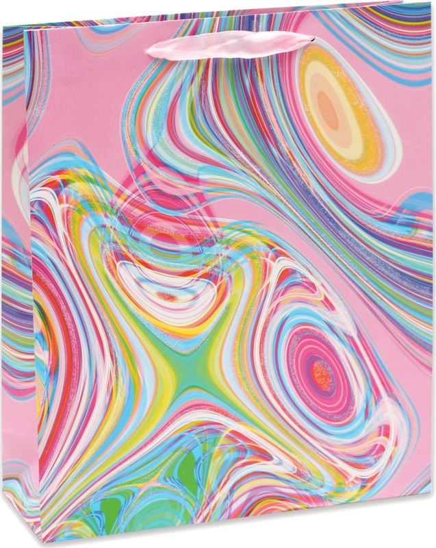 Подарочная упаковка Dream Cards Радужные разводы, 26,4 х 32,7 13,6 см