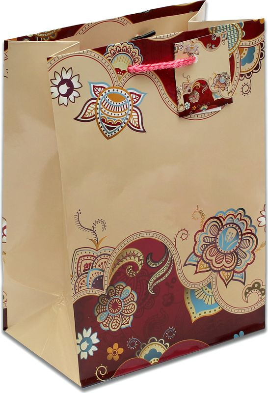 Подарочная упаковка Miland Причудливые узоры, 18 х 23 х 10 см подарочная упаковка miland лама на прогулке 18 х 23 х 10 см