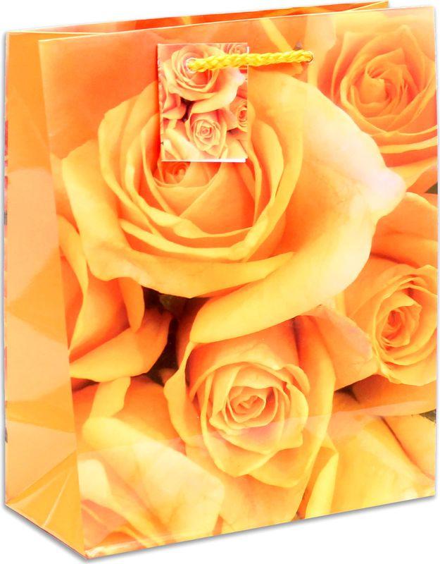 Подарочная упаковка Miland Оранжевые розы, 18 х 23 10 см