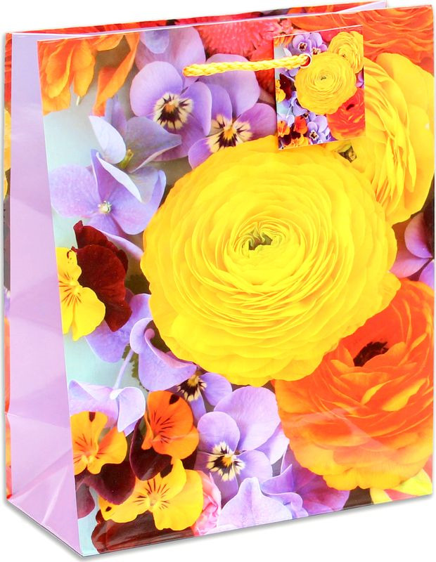 "<b>Подарочная упаковка Miland</b> ""Яркие цветы "", 18 х 23 х 10 см ..."