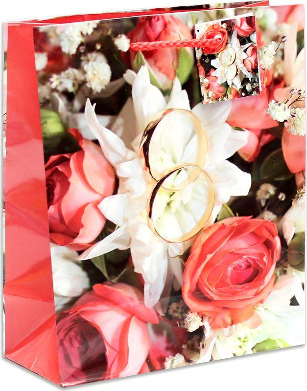 Подарочная упаковка Miland Счастливая свадьба, 18 х 23 х 10 см подарочная упаковка miland лама на прогулке 18 х 23 х 10 см