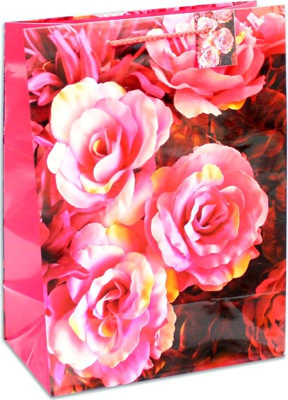 Подарочная упаковка Miland Букет роз, 26 х 33 х 14 см пакет подарочный цветочная симфония 31 х 22 х 9 см букет роз