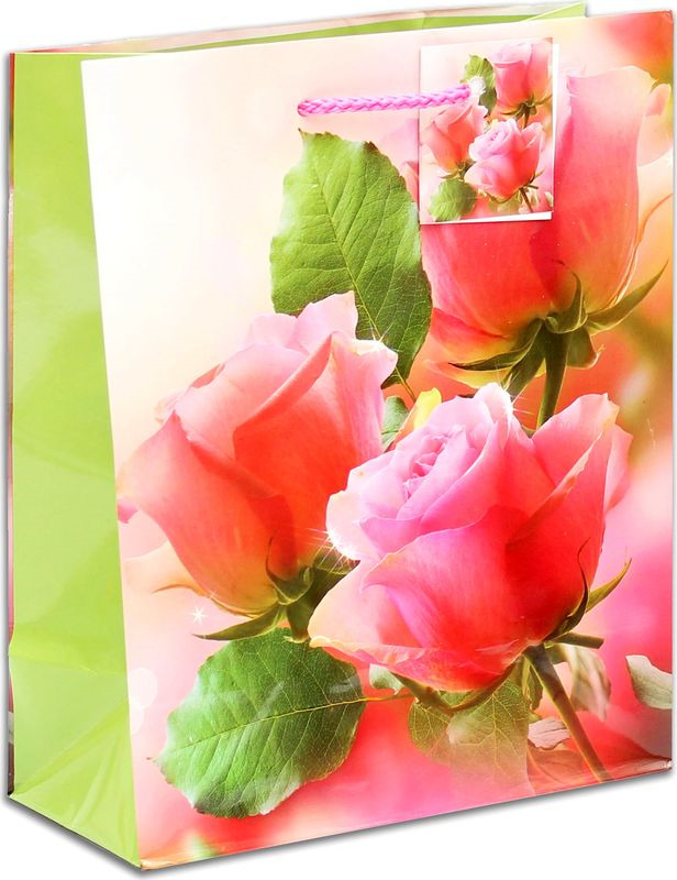 Подарочная упаковка Miland Чарующие розы, 18 х 23 х 10 см пакет подарочный розы 23 х 18 х 8 см синий
