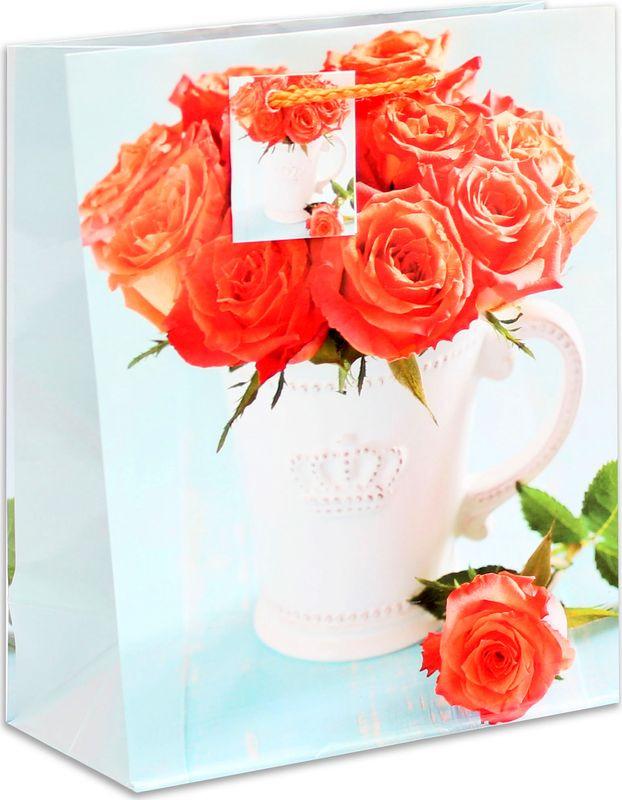 Подарочная упаковка Miland Розы в кувшине, 18 х 23 х 10 см пакет подарочный розы 23 х 18 х 8 см синий