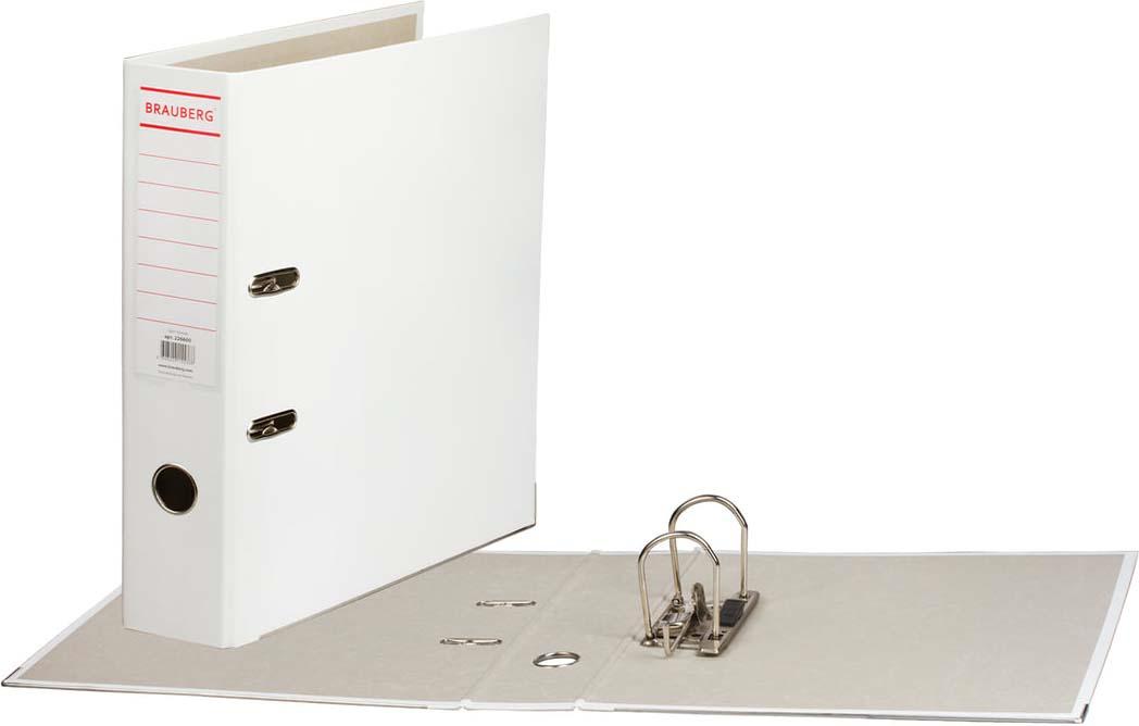 Папка-регистратор Brauberg, А4, корешок 75 мм, 226600, белый