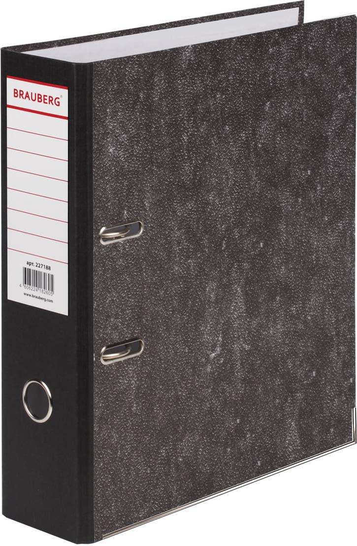 Папка-регистратор Brauberg, А4, корешок 80 мм, 227188, черный