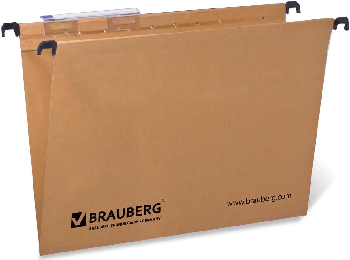Комплект подвесных папок Brauberg, А4, 231786, коричневый, 80 листов, 10 шт