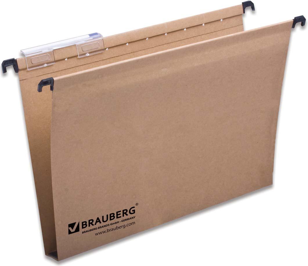 Комплект подвесных папок Brauberg, А4, 231788, коричневый, 300 листов, 10 шт