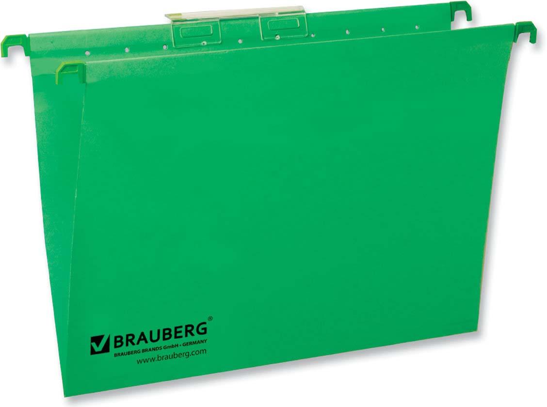 Комплект подвесных папок Brauberg, А4, 231791, зеленый, 80 листов, 10 шт