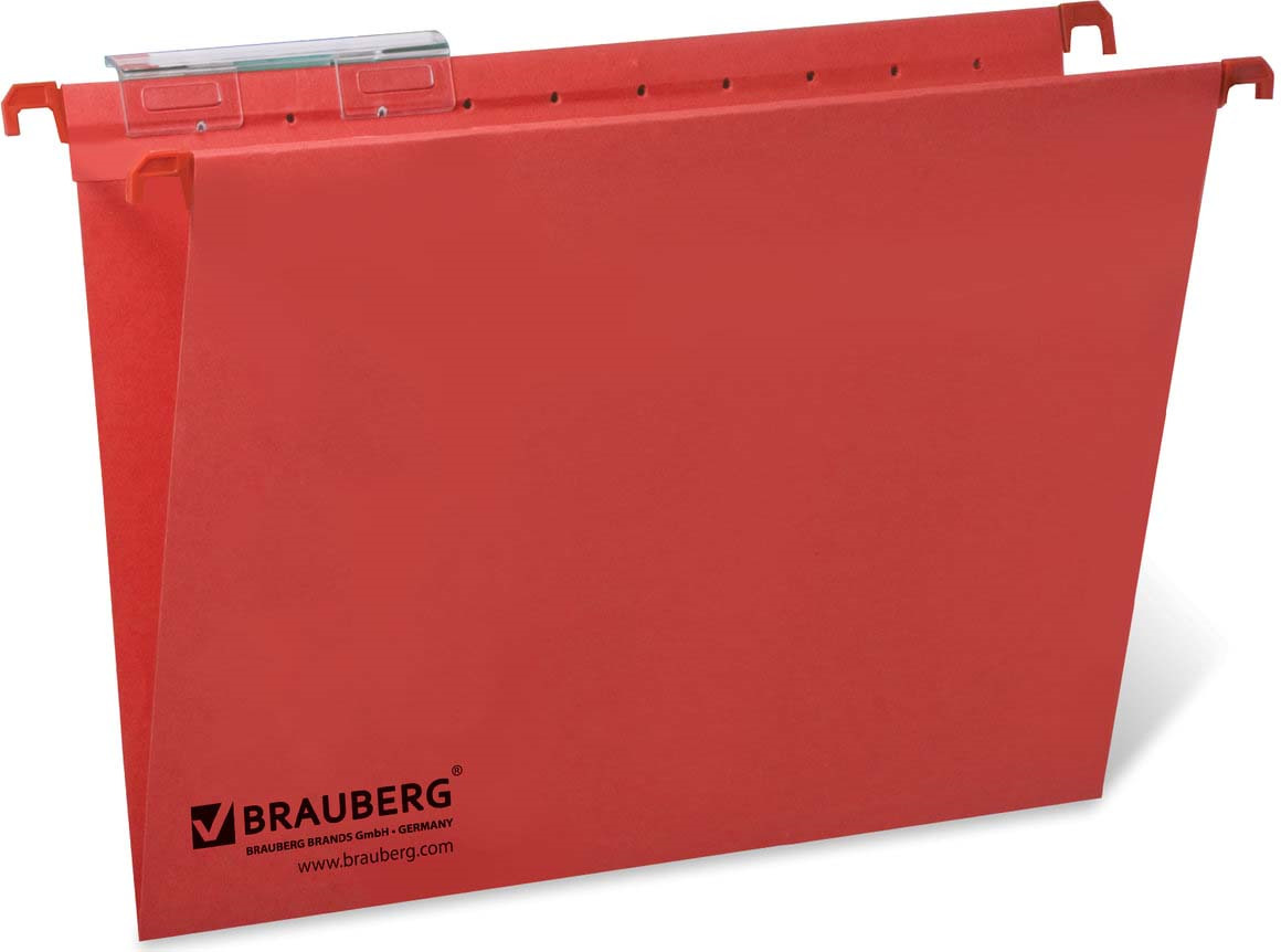 Комплект подвесных папок Brauberg, А4, 231792, красный, 80 листов, 10 шт