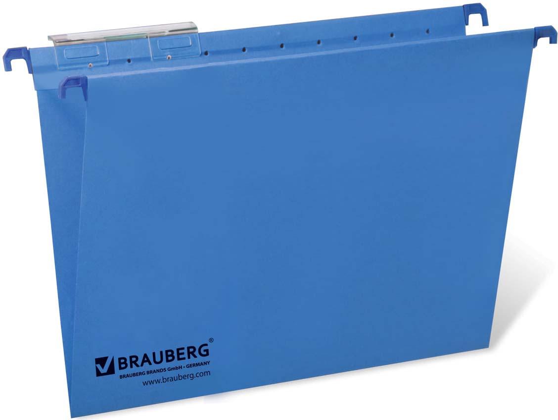 Комплект подвесных папок Brauberg, Foolscap, 231793, синий, 80 листов, 10 шт