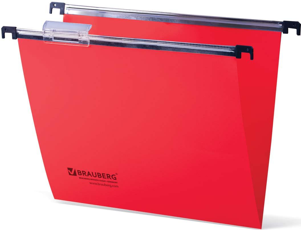 Комплект подвесных папок Brauberg, A4, 231800, красный, 80 листов, 5 шт