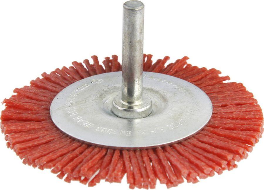 Кордщетка Hammer Flex 207-213, с хвостовиком, 75 мм набор дисков hammer flex 206 161 для пилы универсальной двухдисковой hammer flex crp1500
