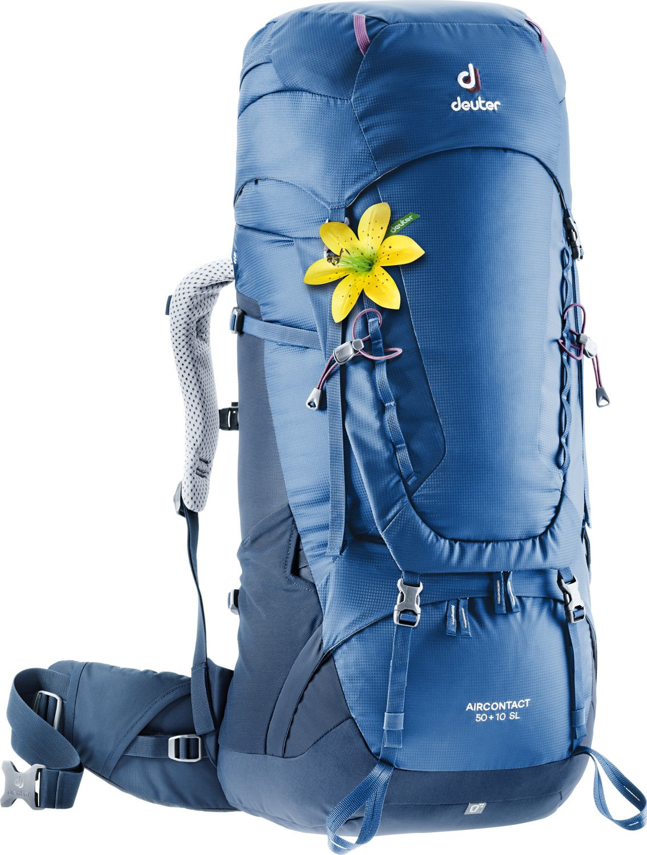 Рюкзак Deuter Aircontact SL, 3320219_3399, синий, 84 х 32 х 26 см цена и фото