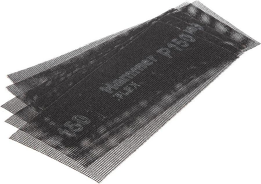 Сетка абразивная Hammer Flex 242-006, Р150, водостойкая, 115 х 280 мм, 5 шт бумага наждачная fit 11 5 х 5 м р150