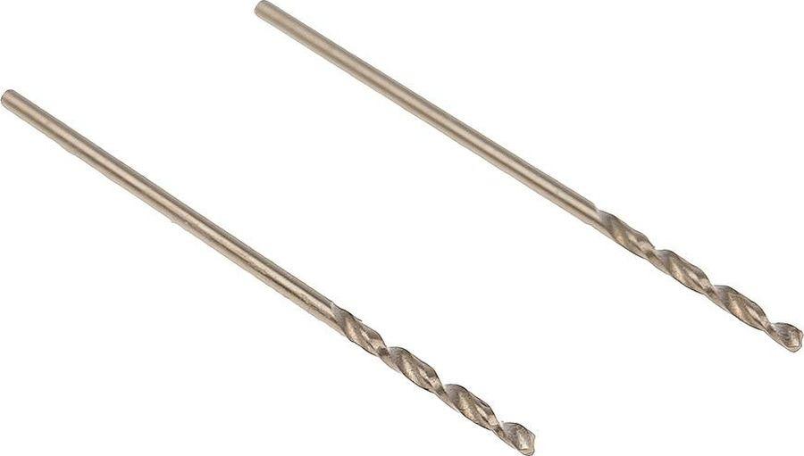 Сверло Hammer Flex 202-501 DR CO, 1,00 мм х 34 мм, 2 шт сверло hammer flex 202 503 dr co 2 00мм 49мм кобальт m35 din338 hrc65 70 2шт