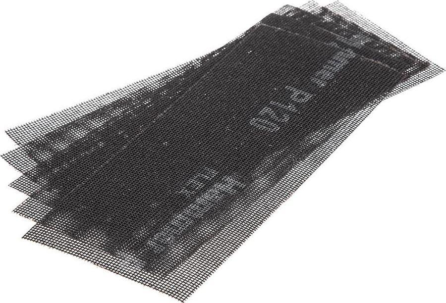 цена на Сетка абразивная Hammer Flex 242-005, Р120, водостойкая, 115 х 280 мм, 5 шт