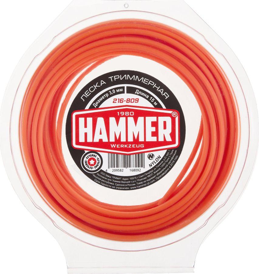 Леска триммерная Hammer 216-809, 3 мм х 15 м