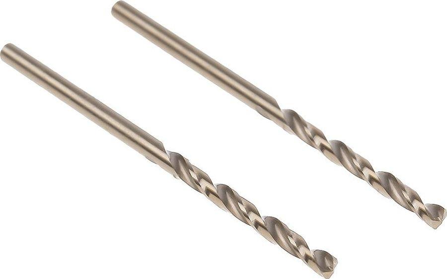 Сверло Hammer Flex 202-504 DR CO, 2,50мм х 57 мм, 2 шт сверло hammer flex 202 503 dr co 2 00мм 49мм кобальт m35 din338 hrc65 70 2шт