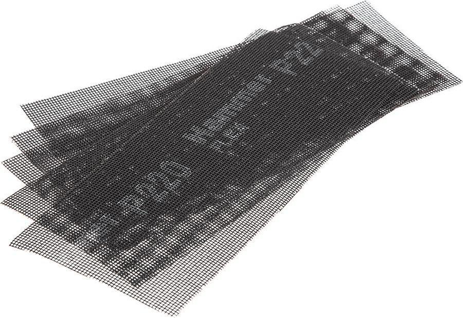 цена на Сетка абразивная Hammer Flex 242-009, Р220, водостойкая, 115 х 280 мм, 5 шт