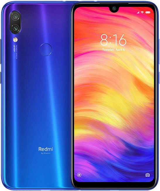 Смартфон Xiaomi Redmi Note 7 32 GB, синий навигатор globusgps gl 900 power glonass blue