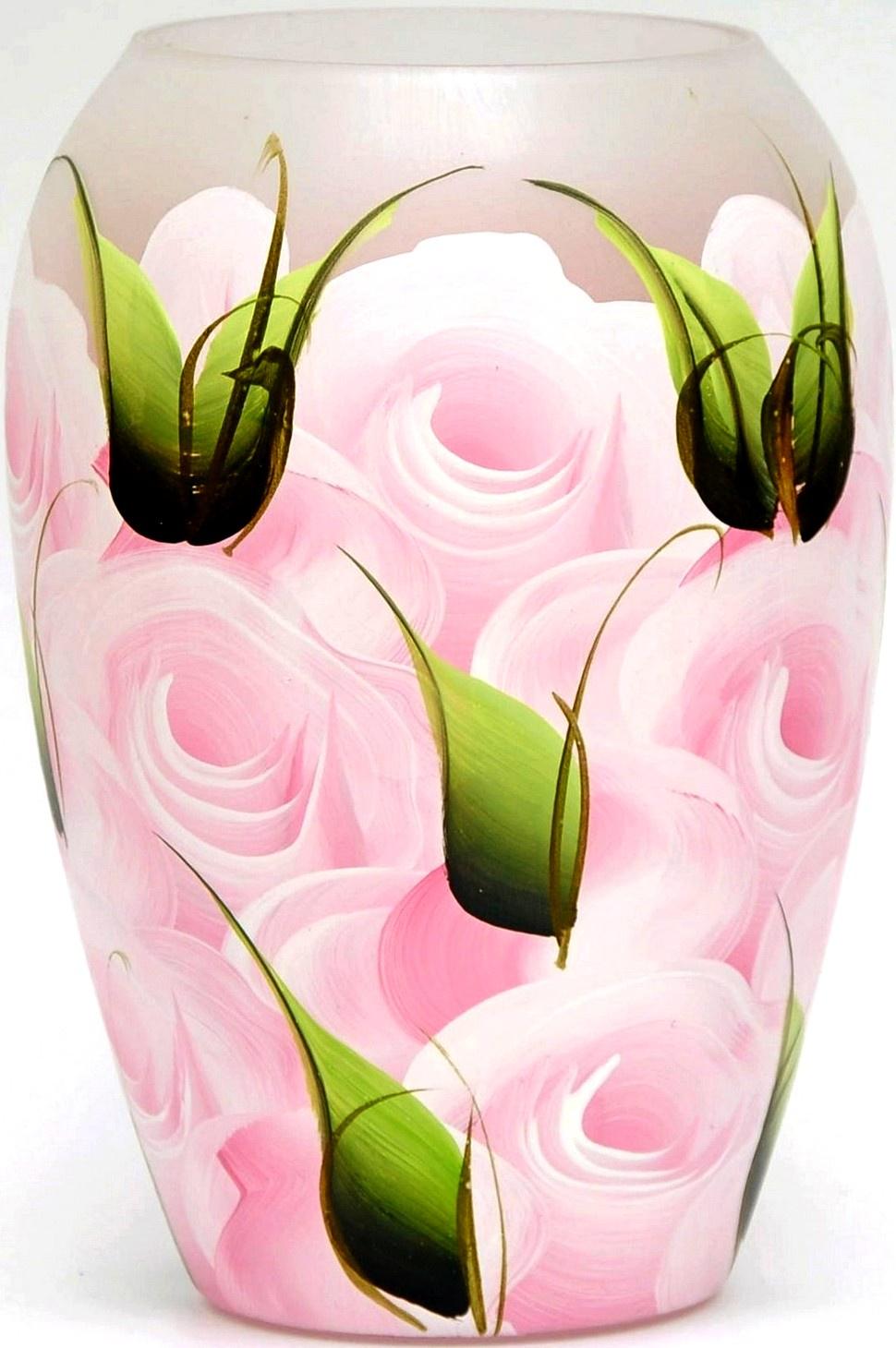 цены Ваза Яркий штрих 864, розовый