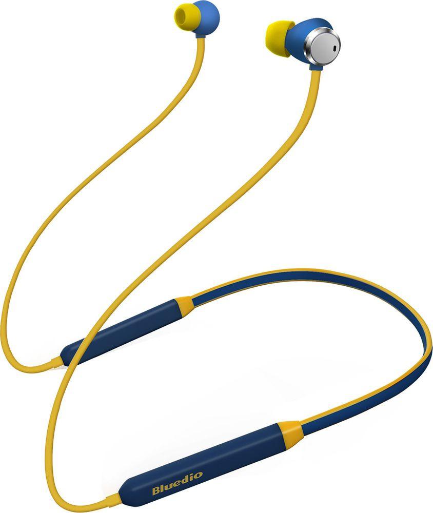 Беспроводные наушники Bluedio T Energy, синий цена