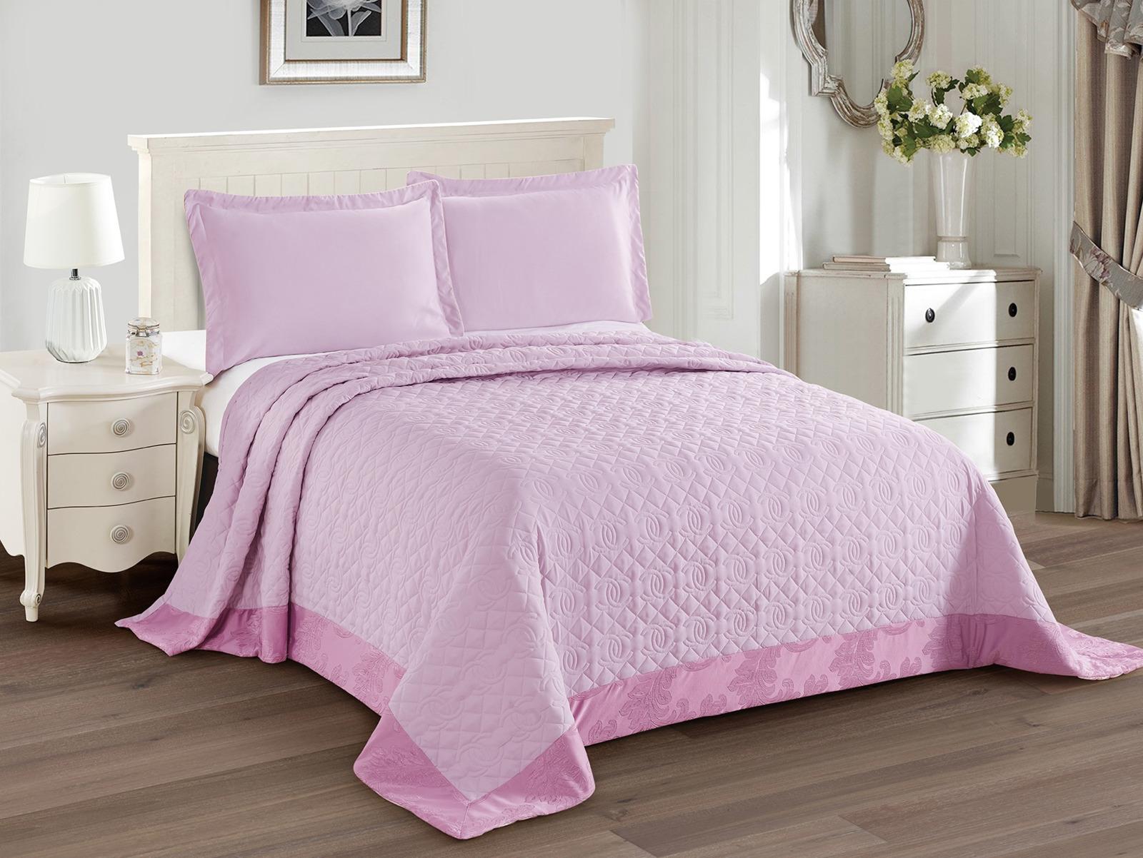Покрывало с наволочками Cleo Monifico, 240/017-CH, розовый, 240х260, наволочки 50х70, 2 шт цена
