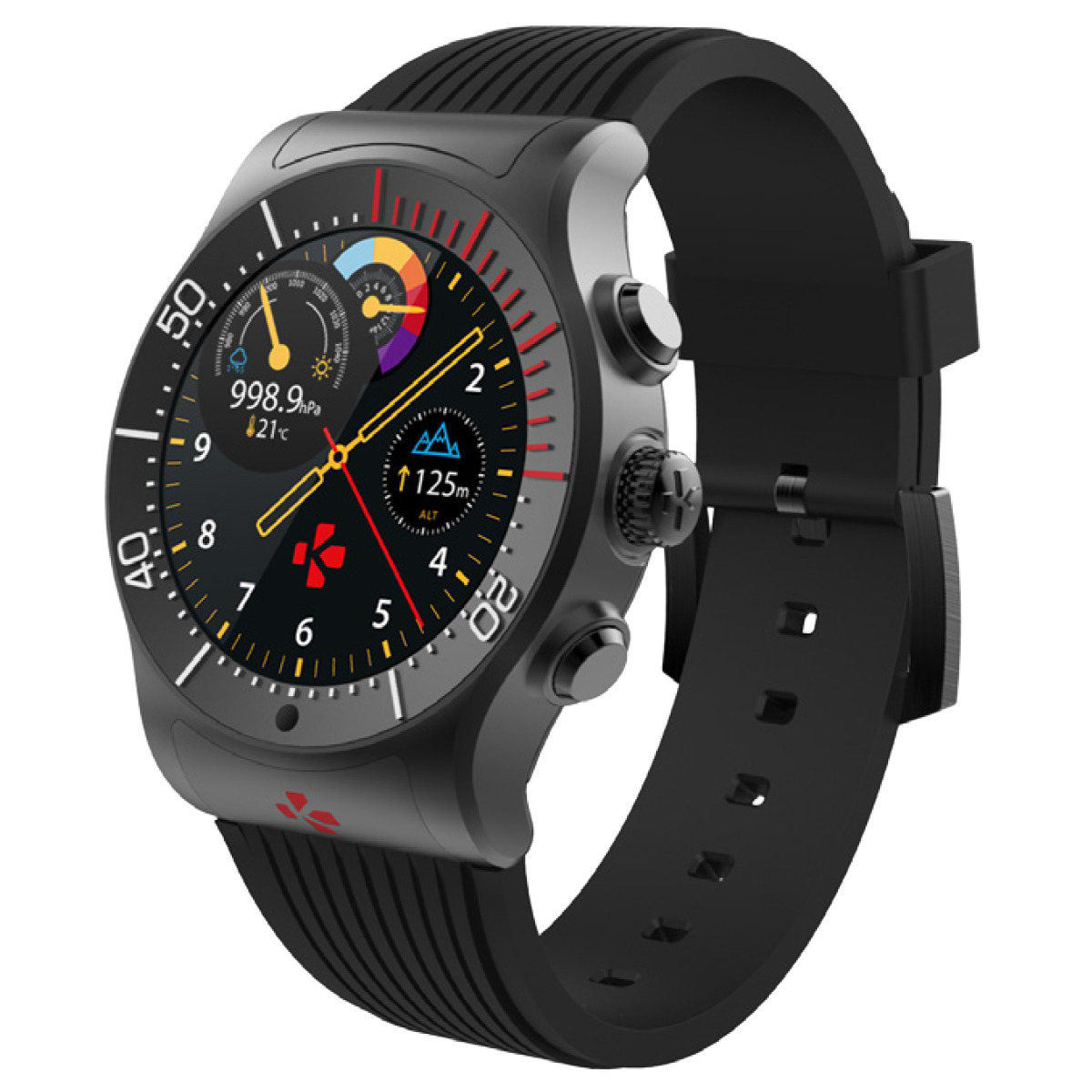 Смарт часы MyKronoz ZeSport цвет черный/черный гибридные смарт часы mykronoz zetime original regular цвет матовое серебро черный