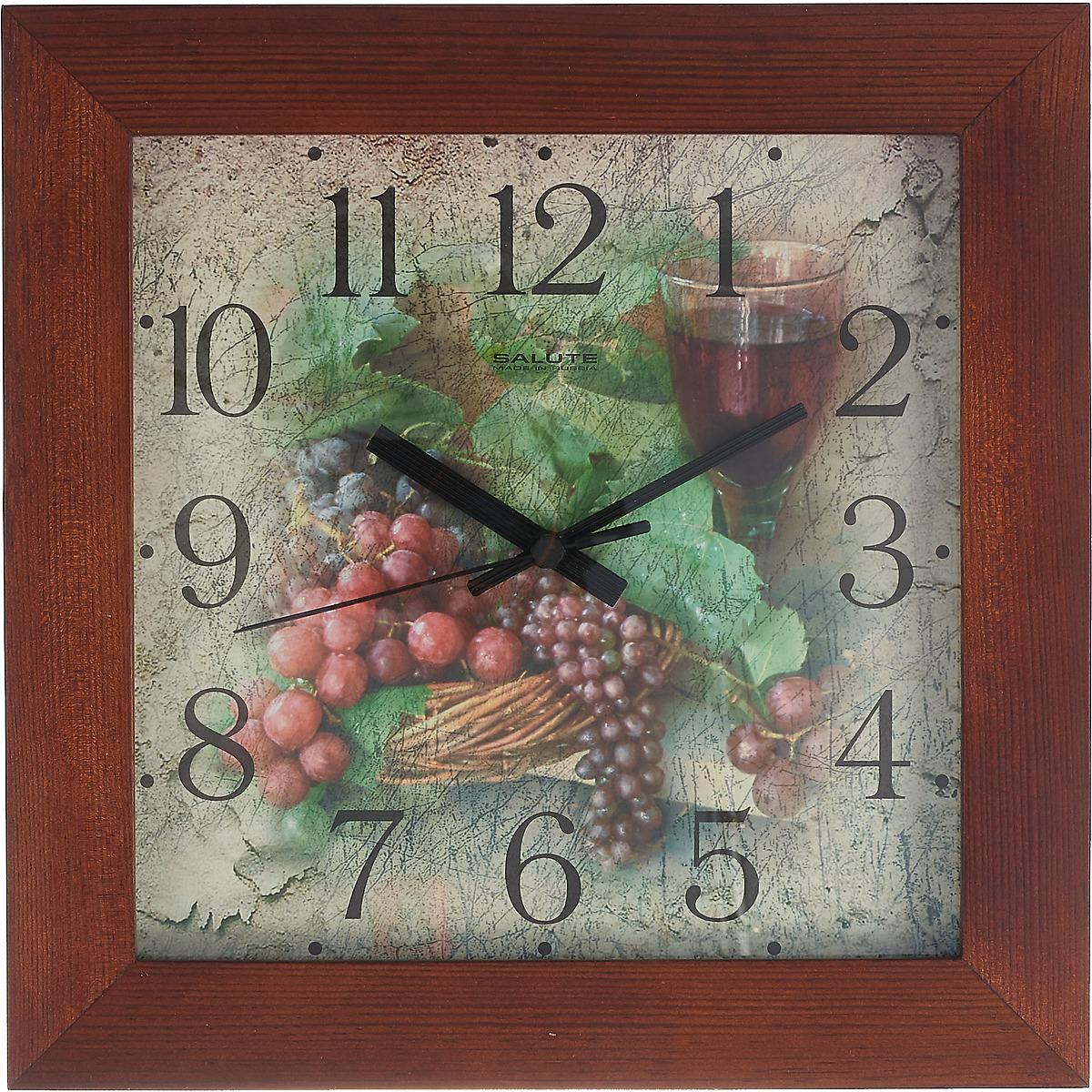 """Настенные часы """"Гроздья винограда"""", 766887, коричневый"""