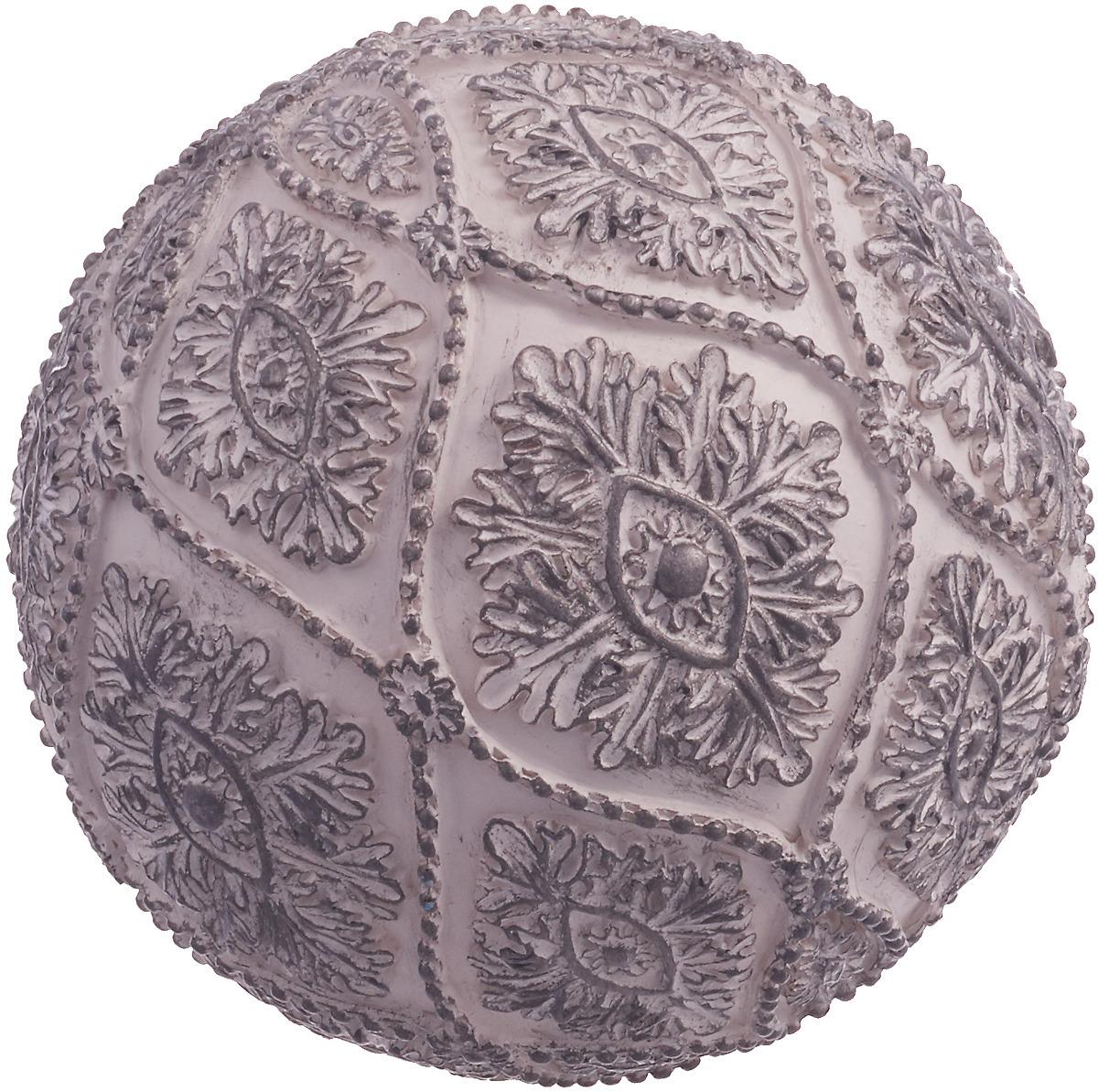 цена на Фигурка декоративная Lefard Шар, 450-703, серый, диаметр 10 см
