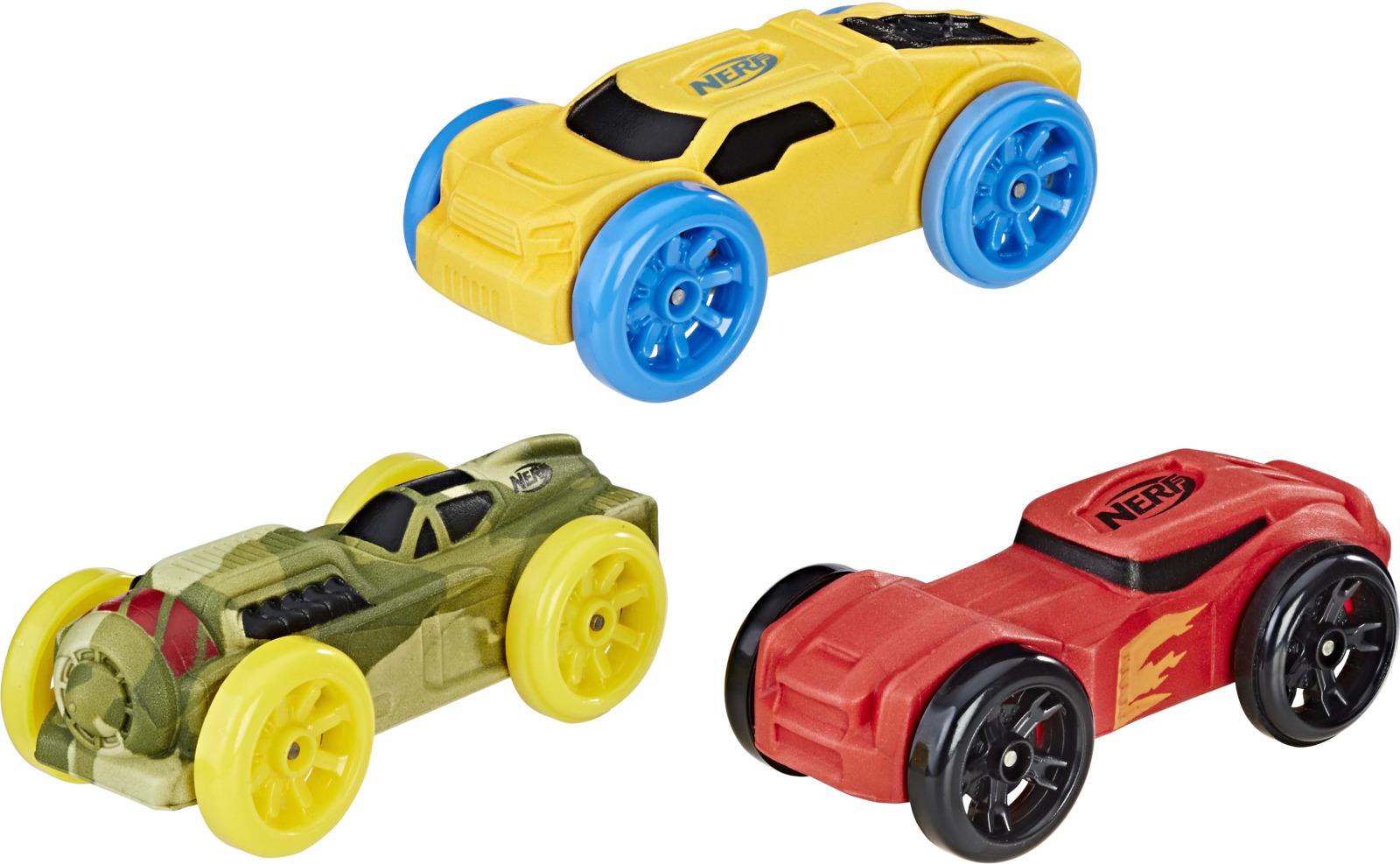 Nerf Машинка Nitro цвет зеленый, оранжевый, сииний 3 шт
