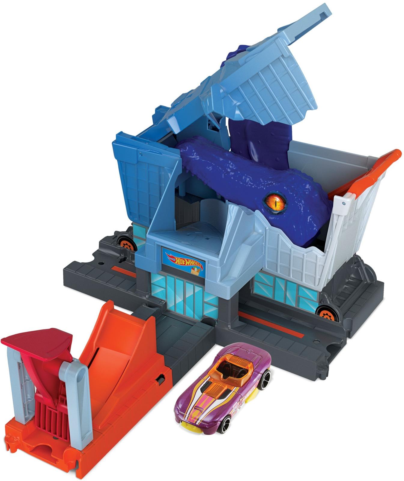 Hot Wheels Игрушечный трек Сити с монстрами-злодеями tonka игрушечный трек trash treader