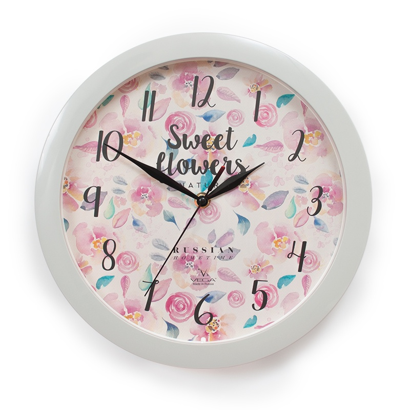 Настенные часы ВЕГА 157294 Мелкие розы