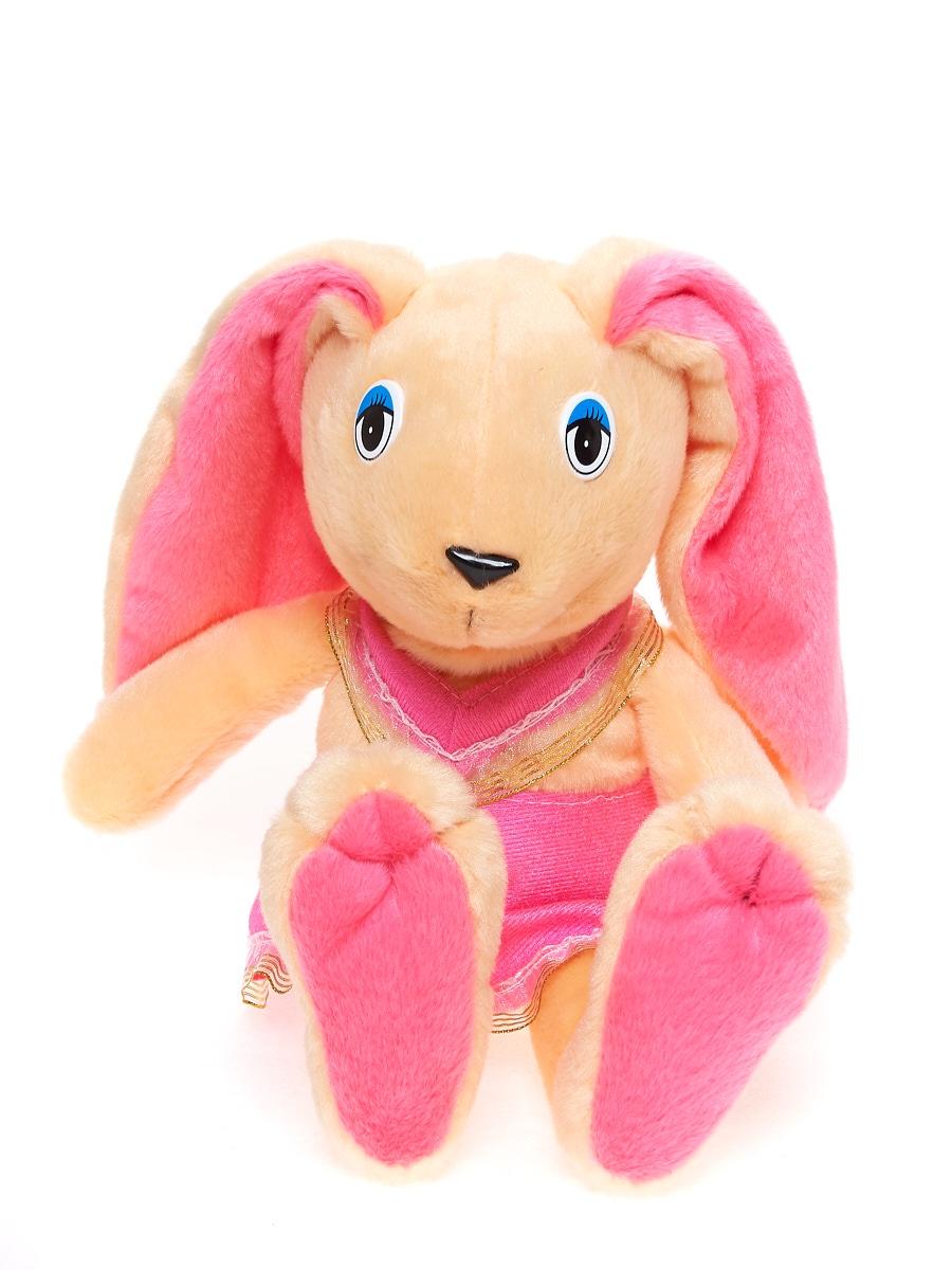 Мягкая игрушка Радомир С650 Заяц Лапушка бежевый, розовый
