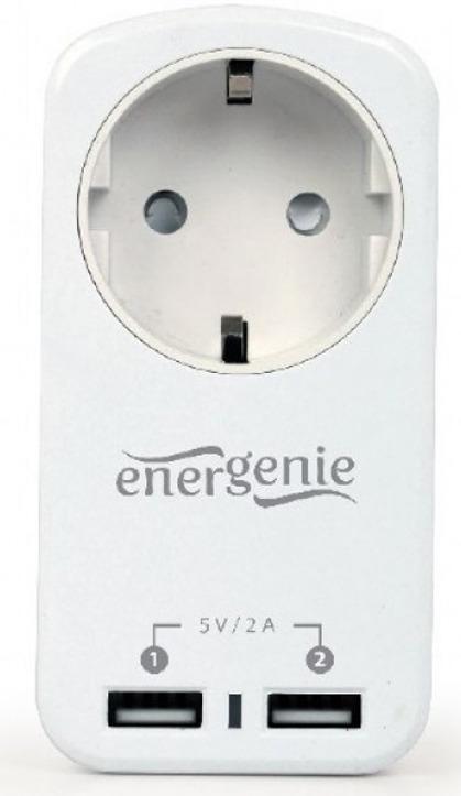 Фильтр-розетка Energenie EG-ACU2-01-W, белый стоимость