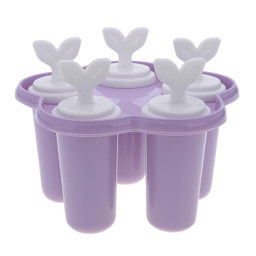 Форма для мороженого MARKETHOT Форма для фруктового льда и мороженого, сиреневый, бежевый, розовый