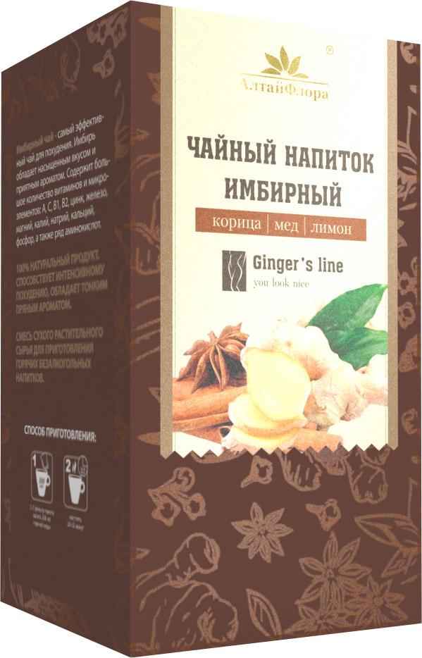 Чай в пакетиках АлтайФлора Имбирный с корицей, медом и лимоном, 20 пакетиков леди слим имбирный чай для похудения с лимоном 2г 30 фильтр пакеты