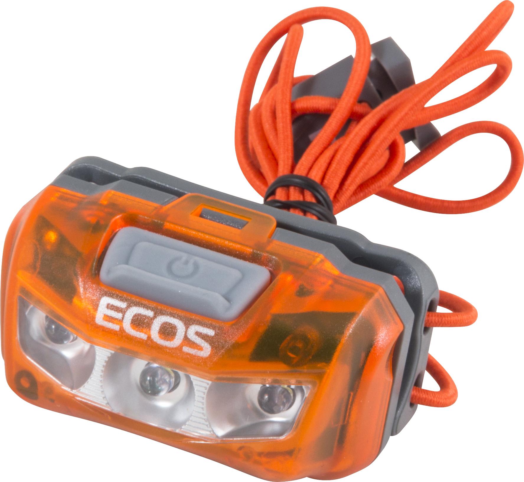 Налобный фонарь Ecos FLHB6006, оранжевый налобный фонарь ecos flhb6008 белый черный