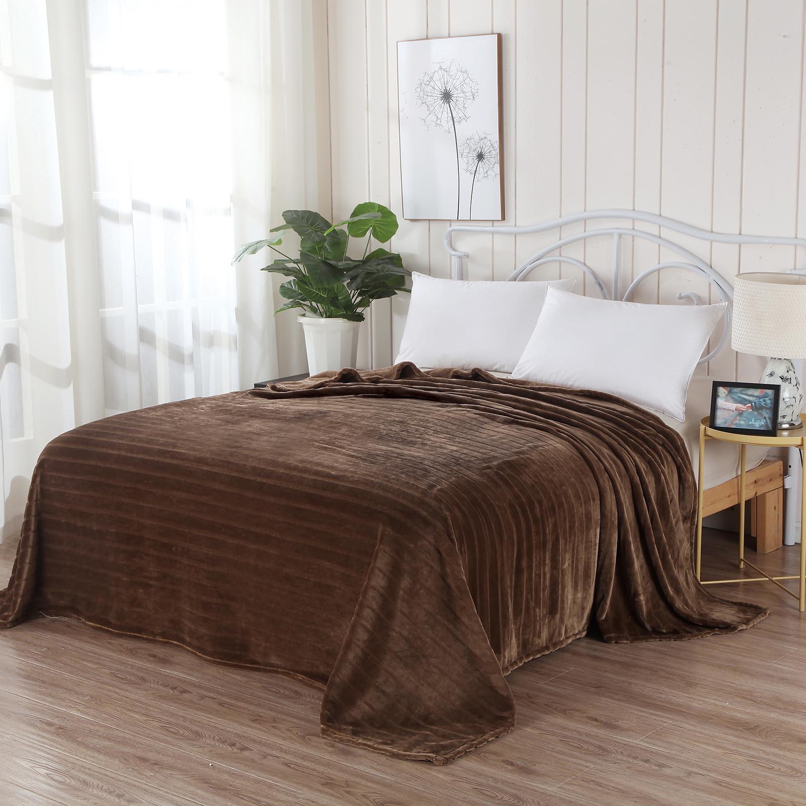 Плед Sofi de Marko Калипсо 2, коричневый пледы hongda textile махровое чудо коричневый широкая полоса